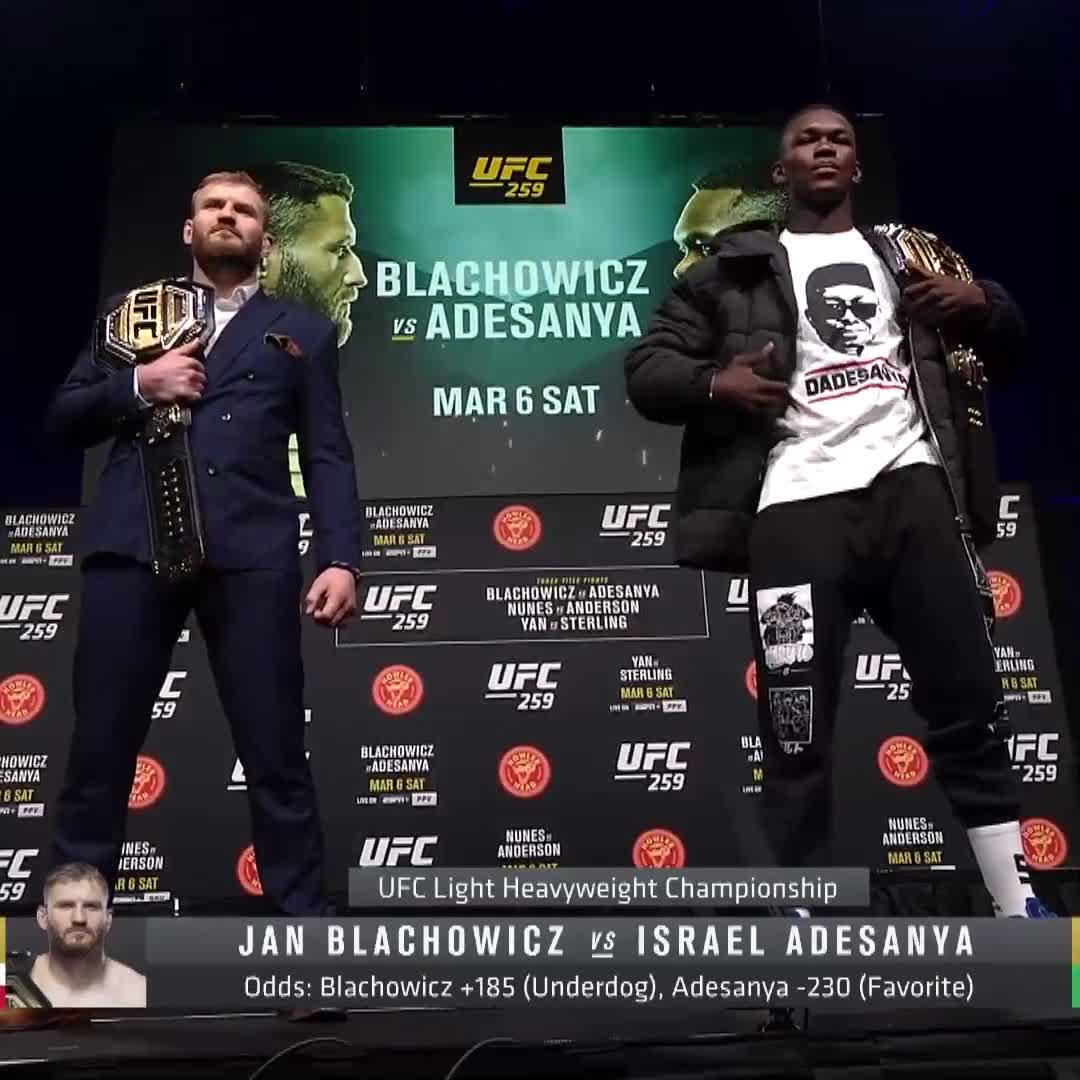 CHAMP vs CHAMP.  🏆 @JanBlachowicz vs 🏆 @Stylebender is TWO DAYS away.  [ LIVE on #ESPNPlus PPV:  ]