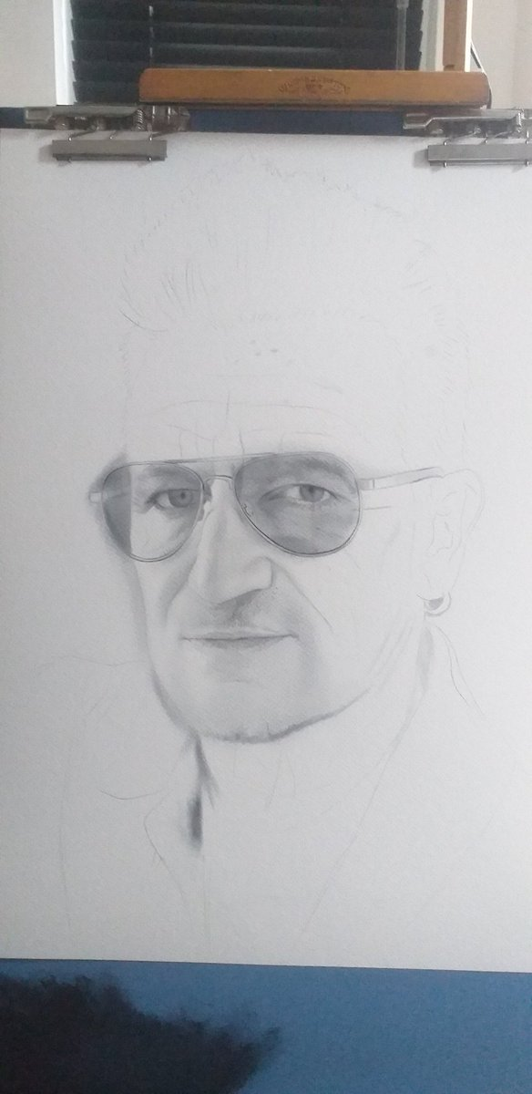 The making of my latest #painting #bono from @U2  #art #painting #ArtistOnTwitter