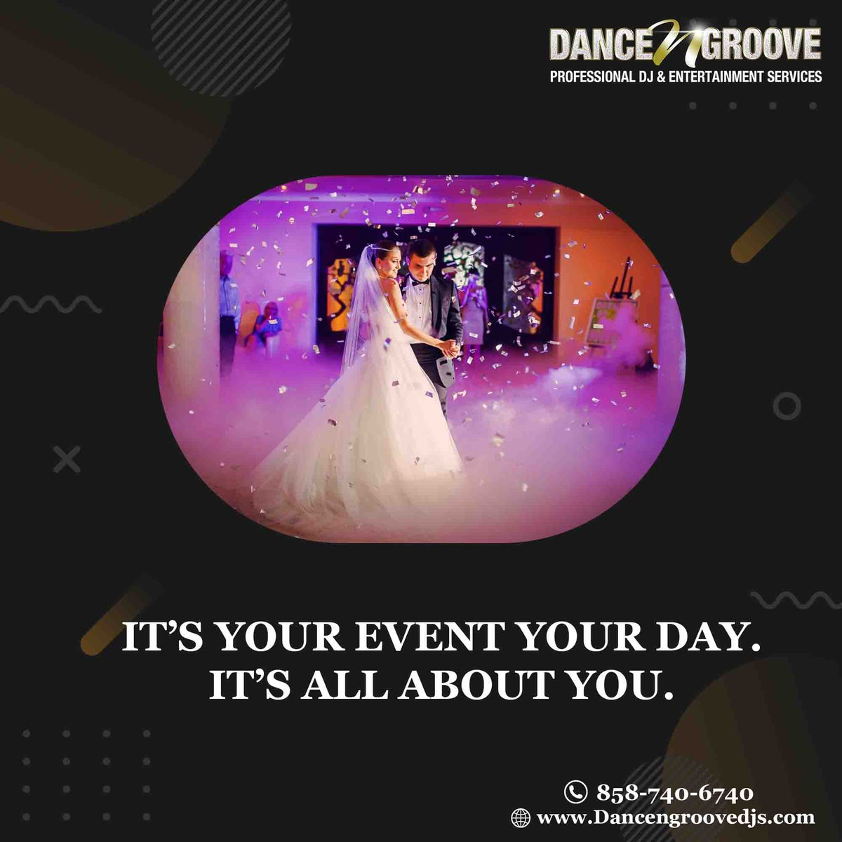 We offer all-inclusive wedding packages, from pre-planning to the rehearsal dinner and reception, so your peace of mind is guaranteed!   📞858-740-6740⁠ 💻⁠ ⁠ #dj #music #party #dance #party #wedding #friends #happy #celebrate #fun #venue #eventplanner