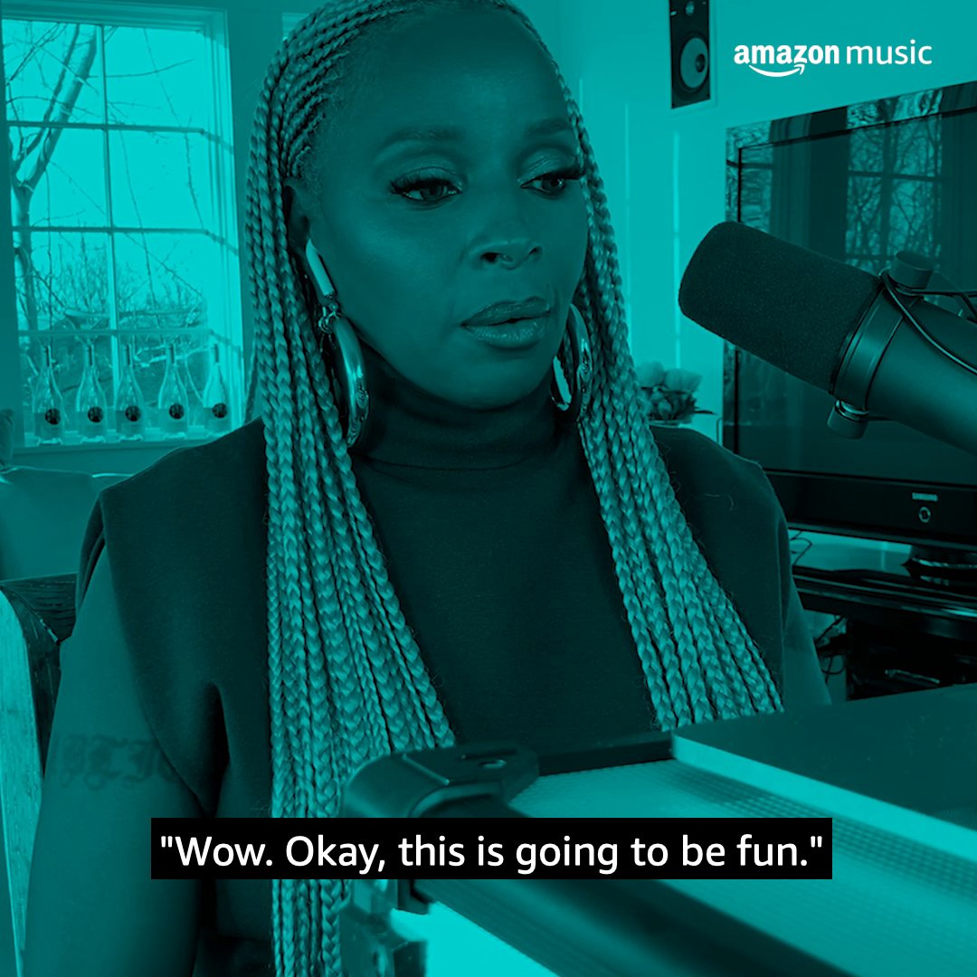 """13 studio albums, millions of records sold, @maryjblige has reached every height there is. She gives @djkhaled the 411 on pivotal moments in her career. What's your fave hit by the 👑 of hip-hop soul?  Listen to """"The First One,"""" only on Amazon Music 🎧:"""