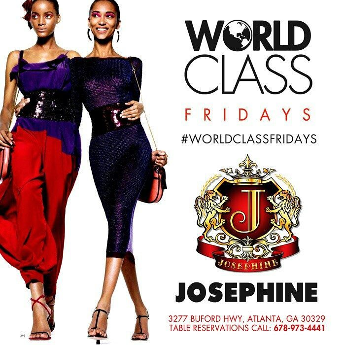 🌍 WORLD CLASS FRIDAYS 🌍⁣  Dress code enforced Drink specials Free parking Free before 11  📲 Call 678-973-4441 for VIP 🍾🥂⁣⁣  #tgif #worldclassfridays #nightlife #party #drinks #music #djs #nightclub #atlanta #atl #atlnightlife