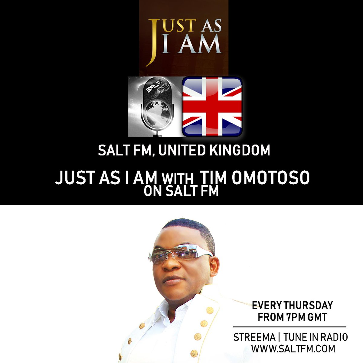 NOW ON❗️ #JUSTASIAM with @freetimomotoso on @saltfm every Thursdays from 7pm GMT  Topic: Power & Authority  🧂