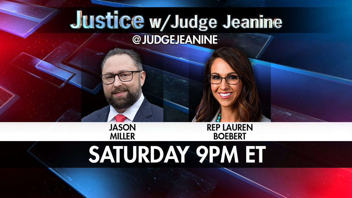 SATURDAY! @JasonMillerinDC and @laurenboebert will be joining me! You won't want to miss it!