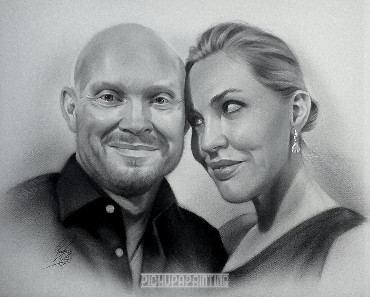My favourite #portrait I've done in a while  Called unconditional love  Have yours painted dm me for details #ArtistOnTwitter #gifts #portraits #commissionsopen