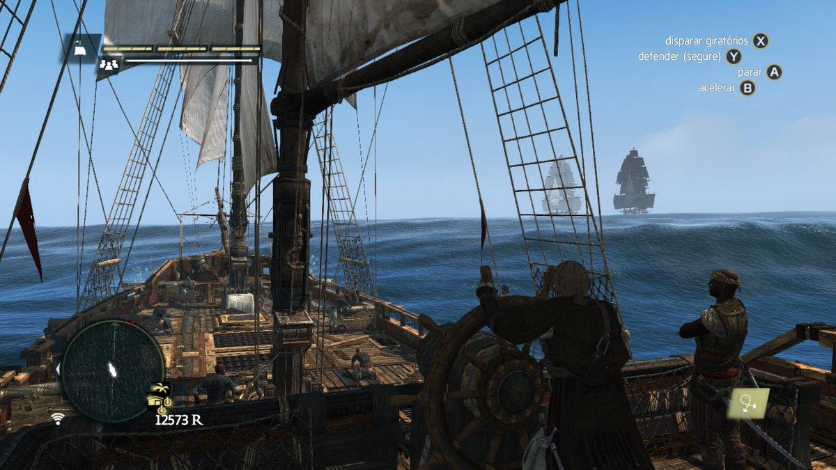 Eita lasqueira! Aí é barril! Esquadra britânica. #AssassinsCreedIV #WiiU