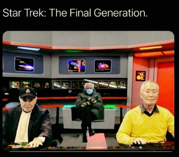 Look what I found! The best Bernie Meme ever! Let's boldly go where no man has gone...  #Berniememes #StarTrek #fun