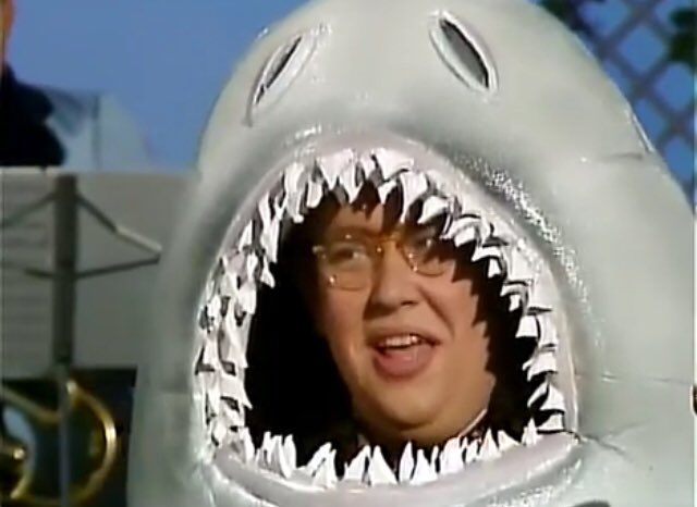 #JohnCandy left this world a lot less funny #OTD in 1994. He did however leave behind some hilarious films and TV - seen here as a #shark on SCTV - and a fantastic dramatic turn in JFK