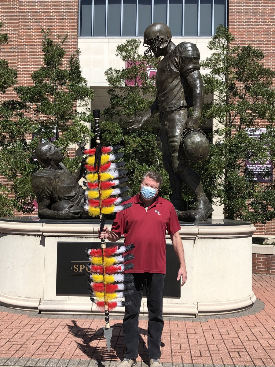 Congrats to our renewal prize winners, Stephen Ampula and Louis Hill, Jr. Each won 2 tickets to the season opener against Notre Dame, and also, Stephen is pictured here with his new spear! #GoNoles #OneTribe https://t.co/LBYLGusD0M