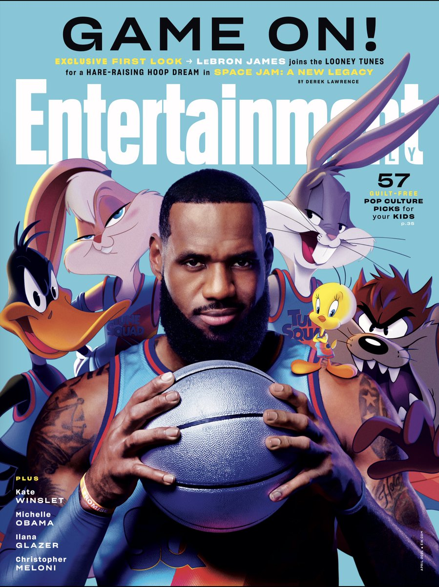 First @EW cover. Hopefully not the last. @KingJames @DonCheadle @wbpictures I am a lucky man. July 16th!
