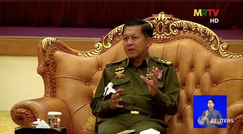 Scoop by me and @Simondlewis: A few days after seizing power, Myanmar's generals attempted to withdraw $1 billion held at New York Fed. US blocked it & rolled out an EO freezing the funds https://t.co/0K3KPKypAz https://t.co/v2Mxx5Z9rQ