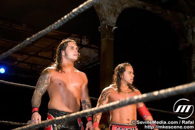 Circa Sept. 2010 - Milwaukee, WI Mondo Lucha Libre  1st time ever tagging together 😳 #tbt