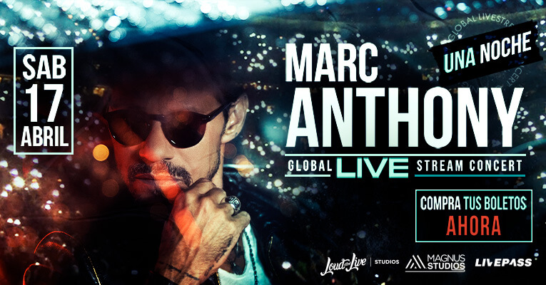 "Replying to @Mega979nyc: Marc Anthony ""Una Noche"" Live Stream Concert"