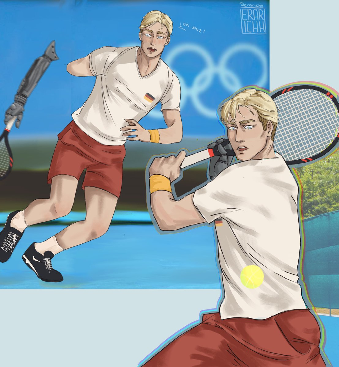 Erwin Smith 🇩🇪  Tokyo Paralympics 2021  He thought his dream was over... but he had friends to give him a new one 🖤 ps.: he's not used to advanced technologies  #erwinsmith #aot #attackontitan