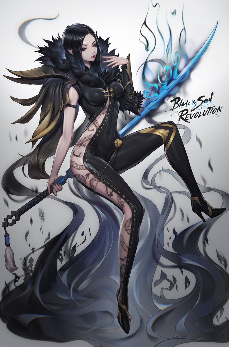 I was a huge fan of the character art of BNS! It definitely inspired me in a way. It was really fun to do a sponsorship art for them! Now there's a mobile version of the game out! Blade and Soul: revolution definitely check it out! bit.ly/3jHYQaU