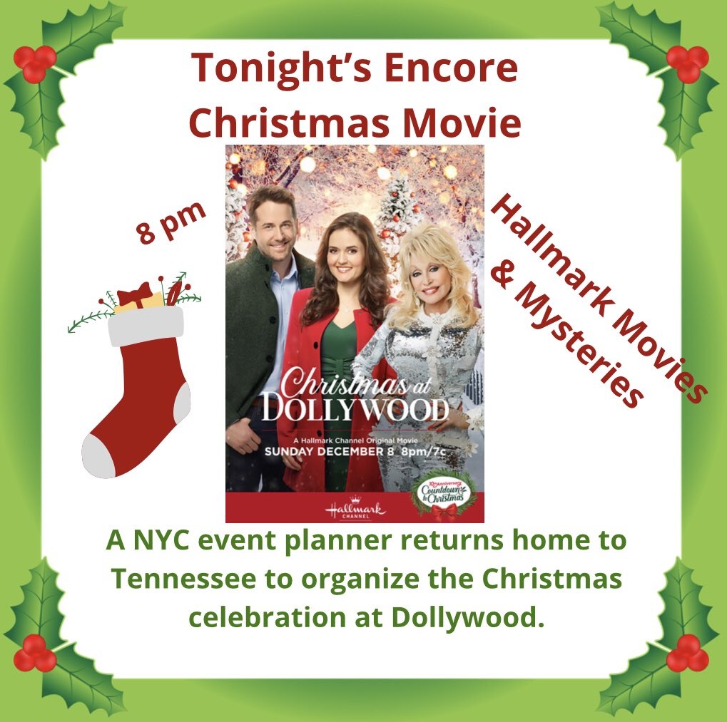 Set your DVR. Tonight we have @danicamckellar @niallmatter and @DollyParton with all the magic of Christmas and @Dollywood   💚🎄❤️ #countdown #christmas #winter #christmasspirit #christmas2021 #holidays #christmasmagic #santa #santaclaus #believe #ChristmasMovies #MovieReviews
