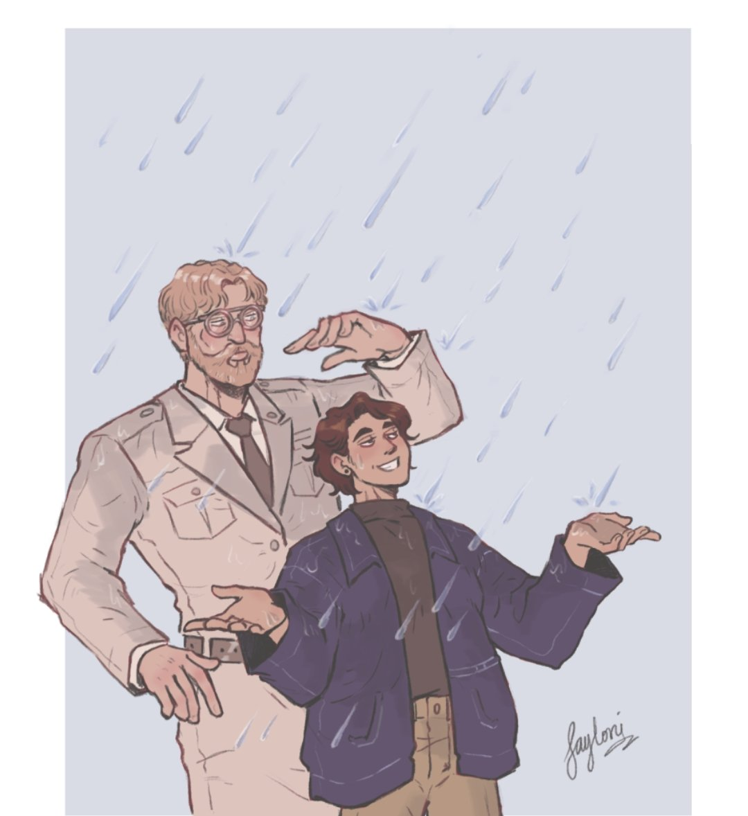 Did a commission for tumblr user globelily of their OC and Zeke. #Commission #commissionopen #AttackOnTitan #art #zekeJaeger #zekeyeager #ArtistOnTwitter