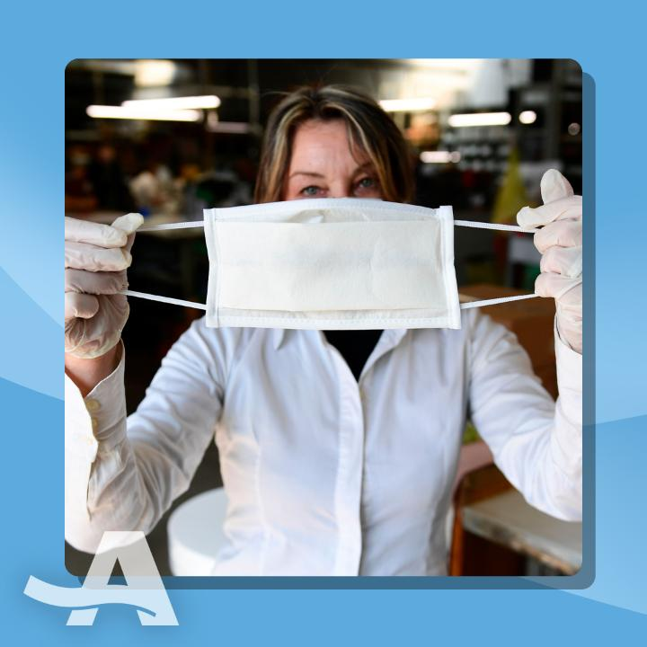 Wearing two masks can block 92.5 percent of particles. Scientist Linsey Marr explains how to properly double-mask, plus precautions you should continue to take to protect against #COVID19. For more information, visit .