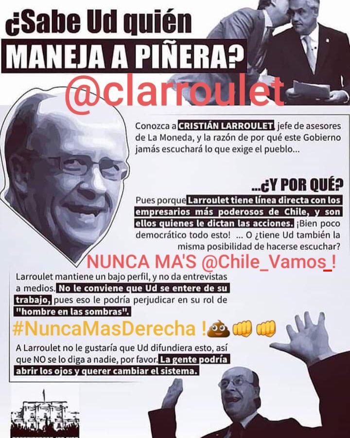 @GanoElApruebo El verdadero presidente de Chile ! Un mafioso de verdad,con status,liderazgo y carerajismo neto !  @clarroulet💩 un ga'nster de verdad !🤦♂️🤦♂️ #PadrinoAwardsMV  #ElGranPadrino  #RenunciaPiñera #ChileDesperto  #RenunciaPiñeraCTM  #RenunciaPiñeraCuliao  #PautaLibre #EstadoNacional