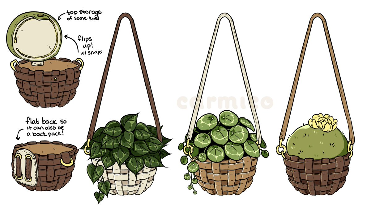 me, minding my own business, doing work: my brain: 🌿🌱🌵 hanging planter bags!!!🌵🌱🌿