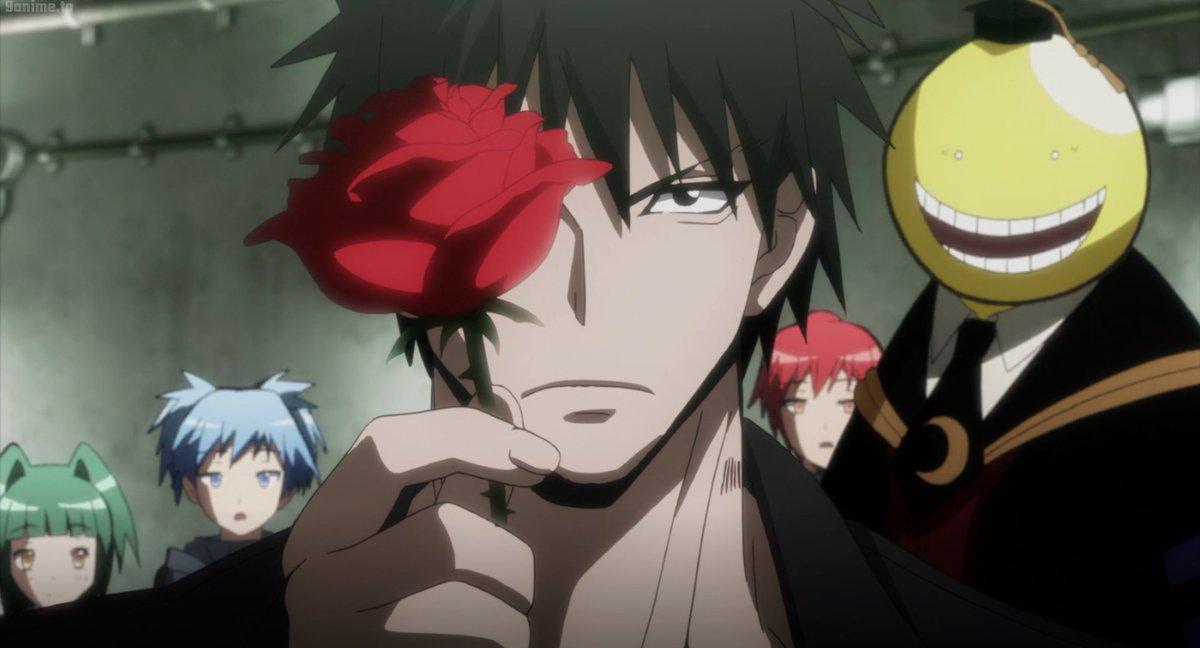 its time to ditch that hair gel now Karasuma-sensei   #AssassinationClassroom