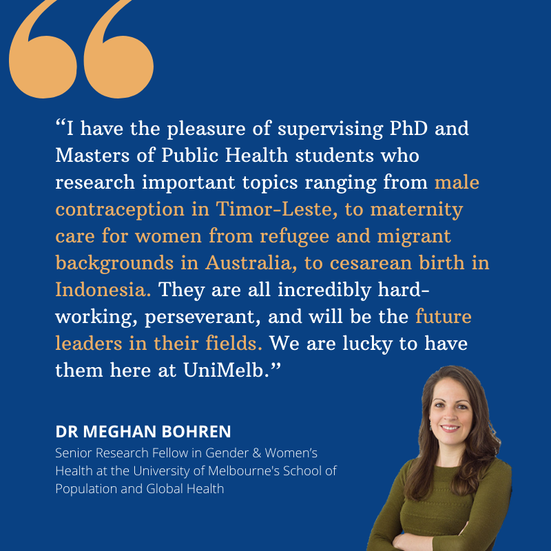 Dr @meghanbohren made major strides in improving the standards of reproductive health of women all across the globe, but like all great leaders, her biggest achievement is creating more leaders. ✊🔥✨👩🔬🧬🌏 #IWD2021 #WomenLead