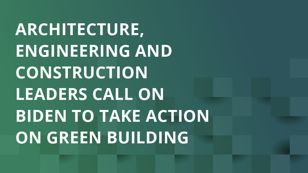 BAR is proud to join 130+ leading companies in the #AEC industry to urge the Biden Administration @WhiteHouse @Potus @Gina_McCarthy @ClimateEnvoy to take action on #ClimateChange in the building industry and #BuildBackBetter. Learn more:  #sustainabledesign