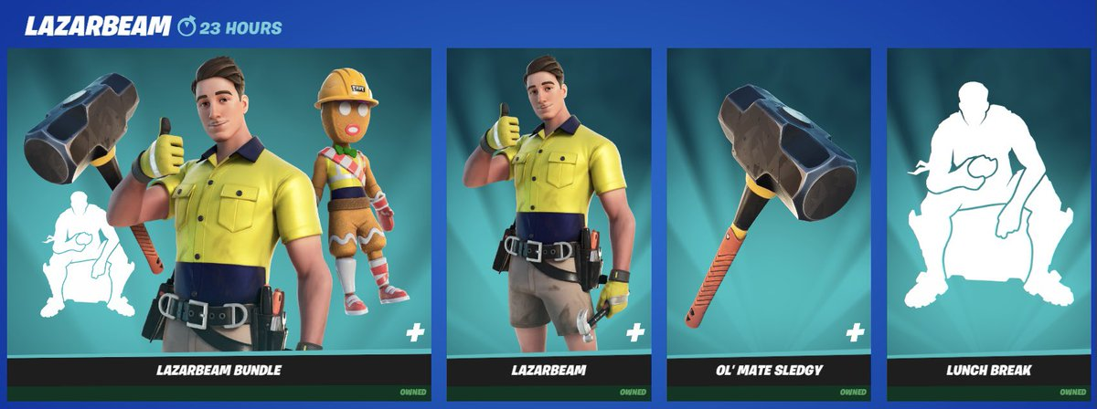 MY DADS IN THE SHOP GUYS I'M SO PROUD!!!  USE CODE LAZAR WHEN BUYING THE SKIN https://t.co/dNWBNFRTmU