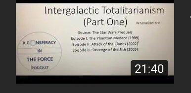 "New Conspiracy in the Force podcast episode on YouTube!!   ""Intergalactic Totalitarianism - Part I""    @macroaggressio3 @ConspiracyorJAC @KnowJanet @BobsLessons @RoninSamTripoli @greekgodpapadon @StarWarsOnly2 @RvTheory6 @DazAltTheory @Kev_Baker_Show"