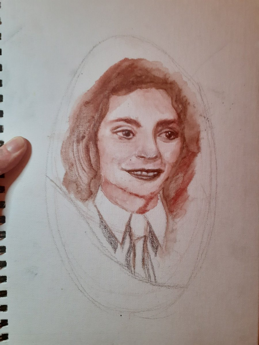 Tonight's progress on #MarionPritchard done live at   Back Saturday at 6pm for the next chonk!  #WomensHistoryMonth #WomensHistoryMonth2021 #Holocaust #HolocaustMemorialDay #liveart