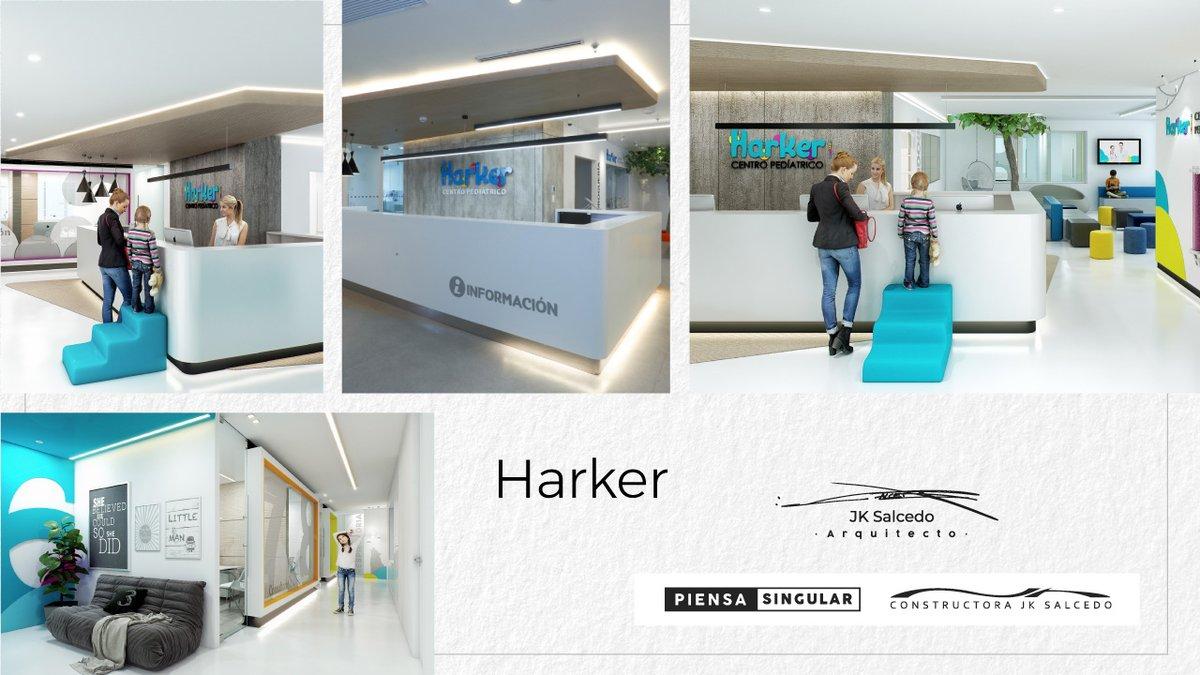 Harker Centro Pediátrico | Creamos cada detalle pensando en las necesidades particulares de quienes disfrutarían de este espacio.👦🏼👧🏻👨👩👧👦    #Arquitectura #architect  #Design #interiordesign #architecture