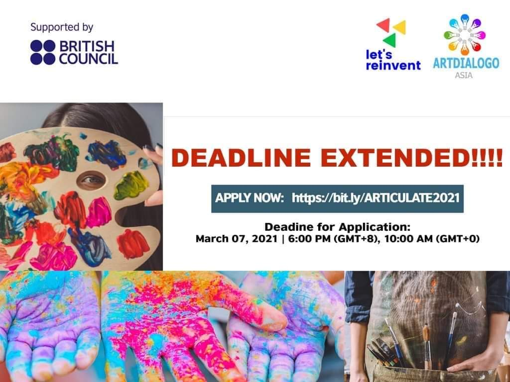 There is still time to apply for our ARTICULATE!  <>    #ConnectionThroughCulture #CultureConnectsUs #BritishCouncil #my\_british