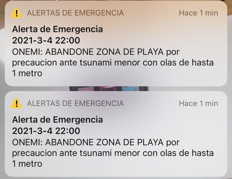 🛑🌊😱#AHORA: @onemichile envía alerta a #Navidad, playa #LaBocadeRapel #4marzo #Tsunami #BienvenidoMarzo