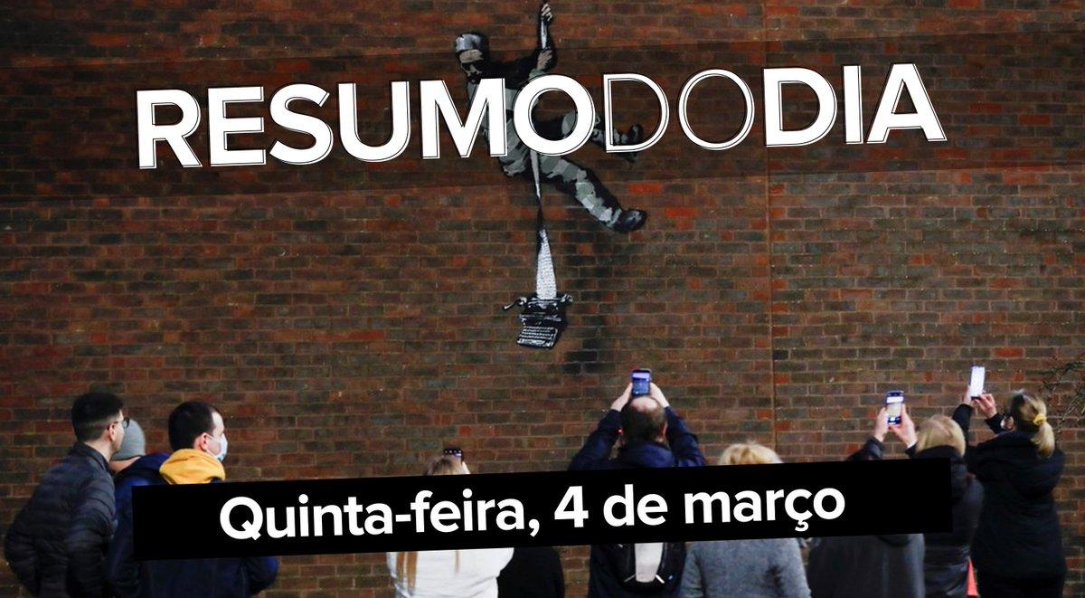 Brasil passa de 261 mil mortos por Covid e governadores pedem a Bolsonaro esforço por mais vacinas no mesmo dia em que o presidente chamou de 'idiota' quem cobra mais imunizantes, e o grafite de Banksy no muro do presídio ==>  #G1 #ResumoDoDia