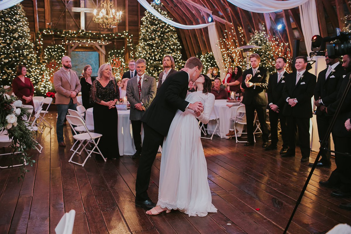 """We got married on December 13, 2020 and had Taylor all throughout our day. We danced to """"lover"""" and walked back down the aisle to """"Christmas Tree Farm."""" #JustSayYES @taylornation13 #LoveStoryTaylorsVersion"""