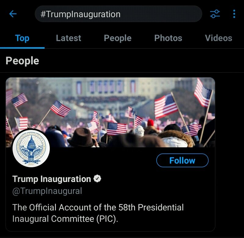 what tf is this blue check under #trumpinauguration. #bye #loser