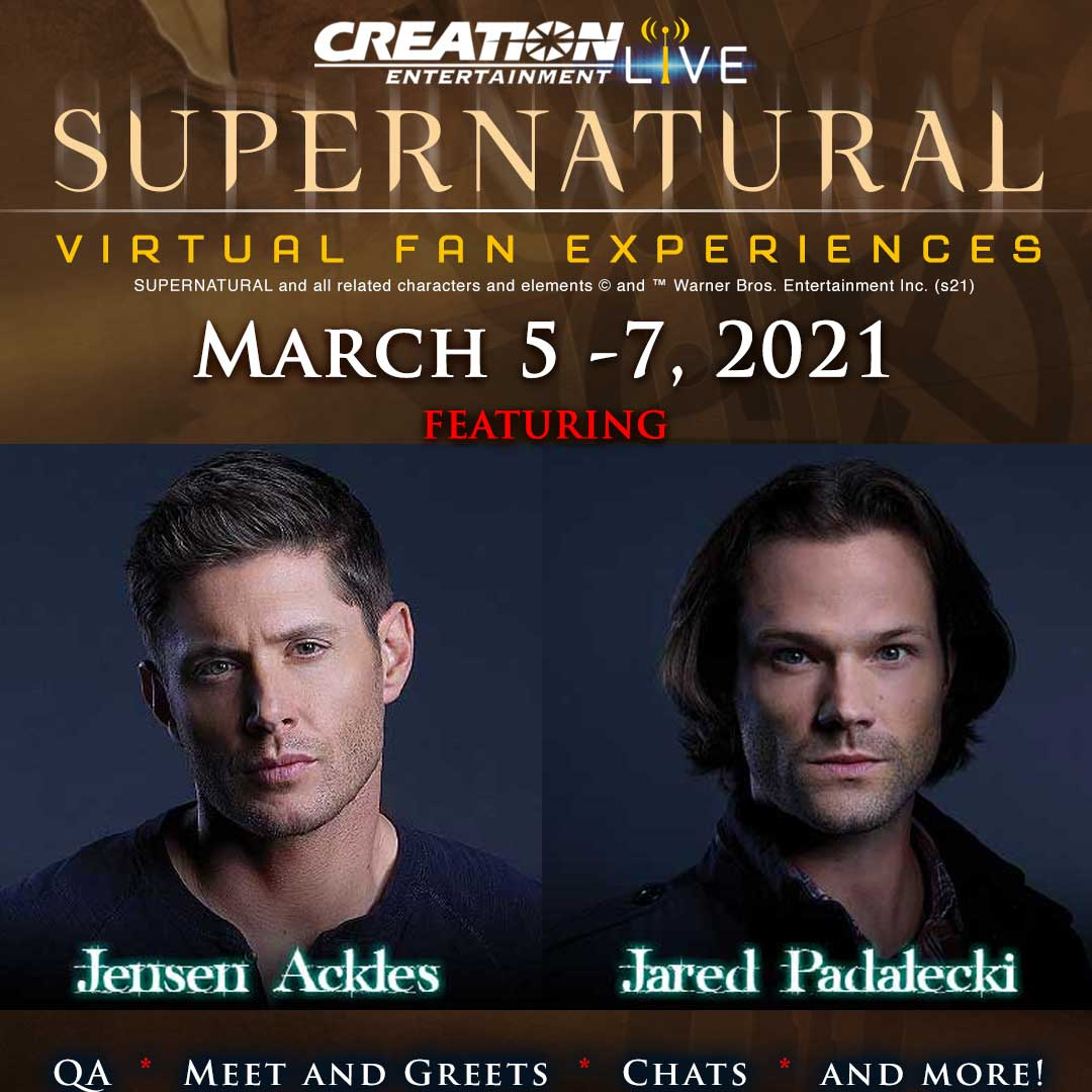 "SUNDAY AT 12:45 PM PST! VIRTUAL Q&A PANEL WITH JENSEN ACKLES & JARED PADALECKI! 🍔🥗 Date: Sunday, March 7, 2021 Time: 12:45 PM – 1:45 PM PST How: ""Pay what you can""! via  - reserve your spot now!"