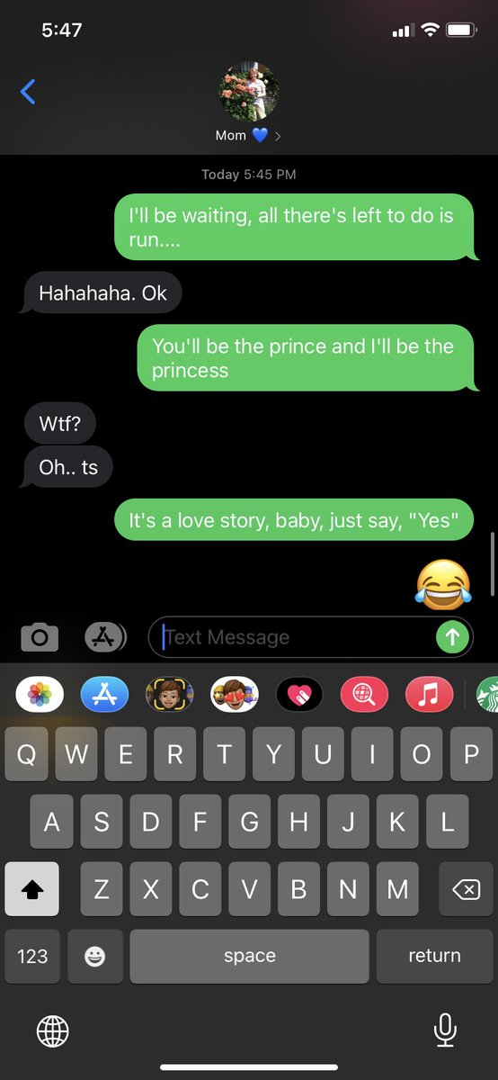 @taylornation13 Texted my mom she was so confused 😂 #TaylorSwiftIsLovedParty #LoveStoryTaylorsVersion