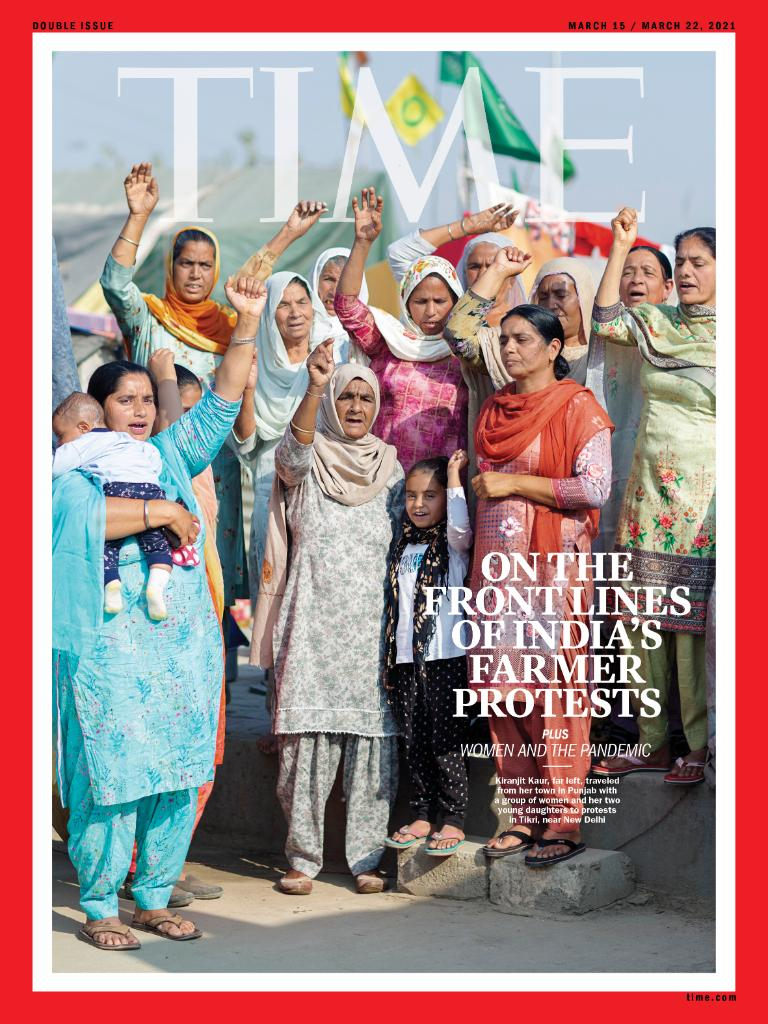 "TIME's new international cover: ""I cannot be intimidated. I cannot be bought."" The women leading India's farmers' protests"
