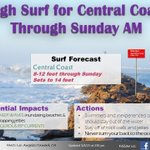 Image for the Tweet beginning: A High Surf Advisory is