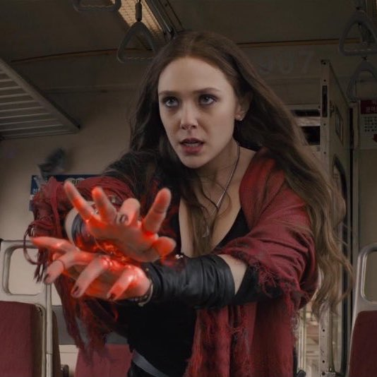 Notice how her powers get darker & darker the more pain she goes through?!  Her powers literally went from being basic red in Age Of Ultron to being completely scarlet in wandavision !  This girl really has been through it all 😕 #wandavision  #WandaVisionFinale  #wandavisionbash