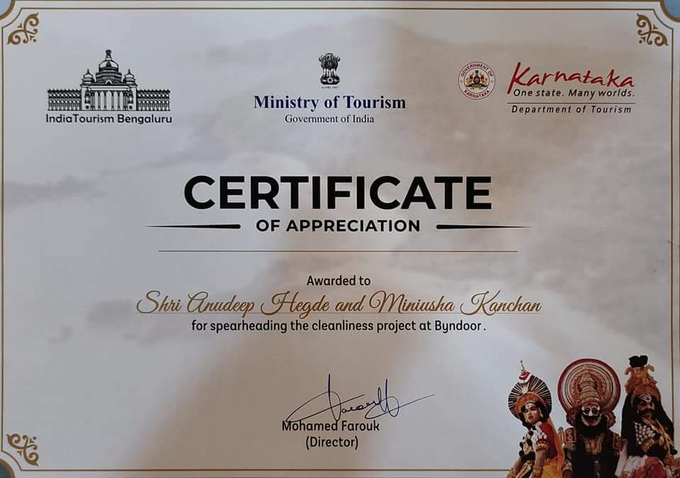 """Hon'ble PM Sh. @narendramodi ji has lauded the efforts of the couple through his """"Mann Ki Baat"""". Till date Anudeep and  Team has collected around 800 KG. Non bio degradable wastes from the shores.  #SwachhBharat #CleanIndia #DekhoApnaDesh #AatmaNirbharBharat"""