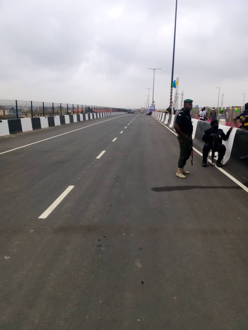Our officers are on ground as @jidesanwoolu commissions Pen Cinema Flyover today.