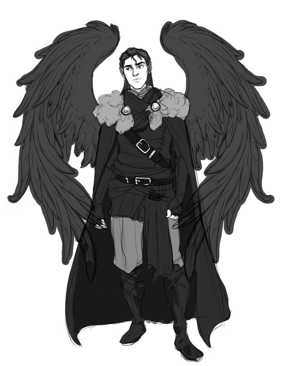 unfinished Vax sketch I never got to actually finish <3 #criticalrolefanart #criticalrole #criticalroleart #critroleart @VoiceOfOBrien