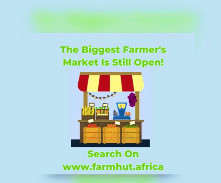 Wondering how you going to market your products during this lockdown? Farmhut got you covered. Register on Farmhut Today and be part of Zimbabwe's largest online. Embrace Technology in the agriculture sector  Visit:  or
