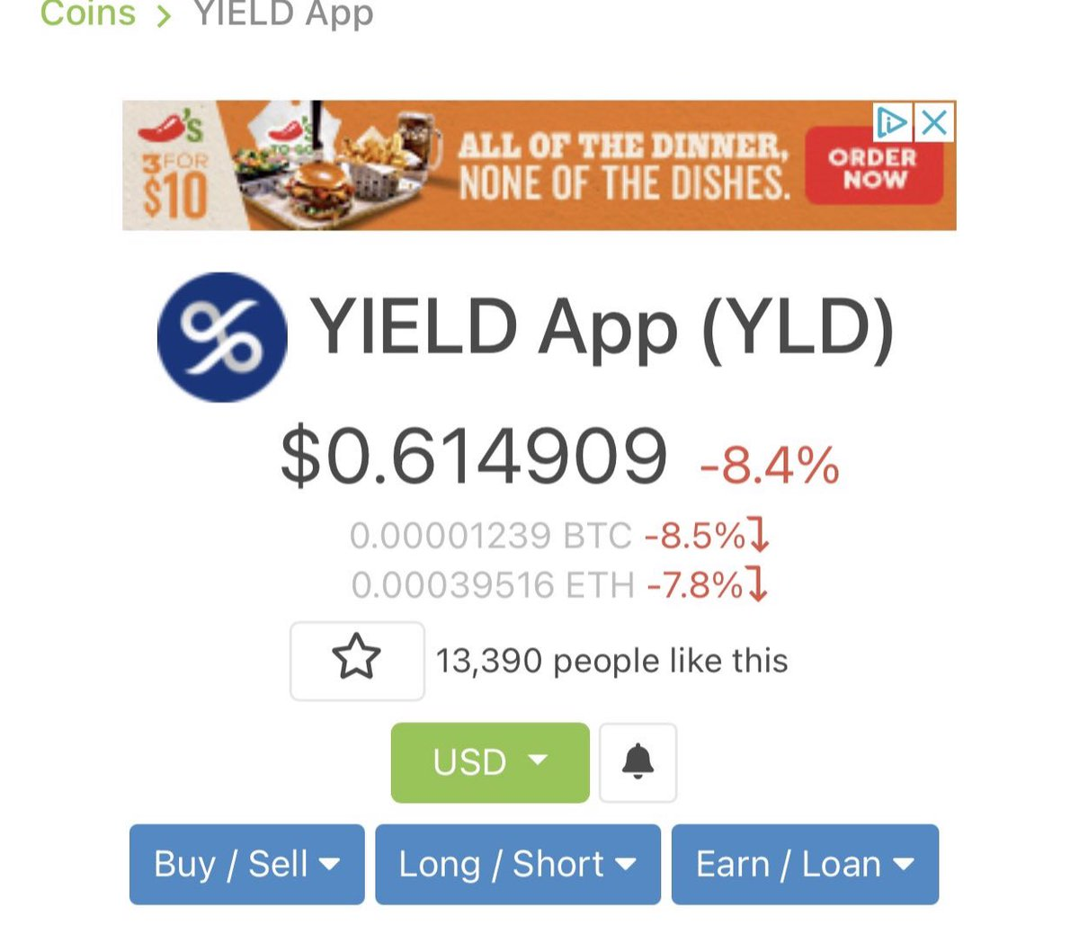 I'll Give $100 to one person who retweets this and follows @YIELDapp in the next 24hrs and completes the tasks below : 👇🏼  1. Go to   2. Search YIELD App  3. Press on the Star 4. Scroll down page and hit Like Thumbs up  5. Post your screenshot in comment