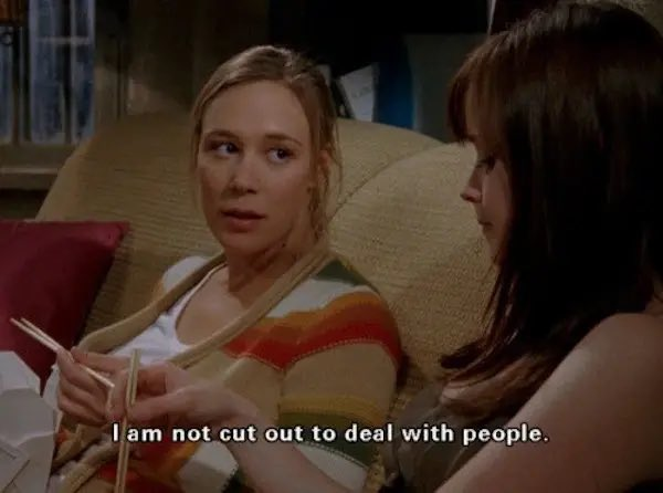 Same, Paris.  Same here.  #people #overrated #peopleskills #gilmoregirls #peopleperson