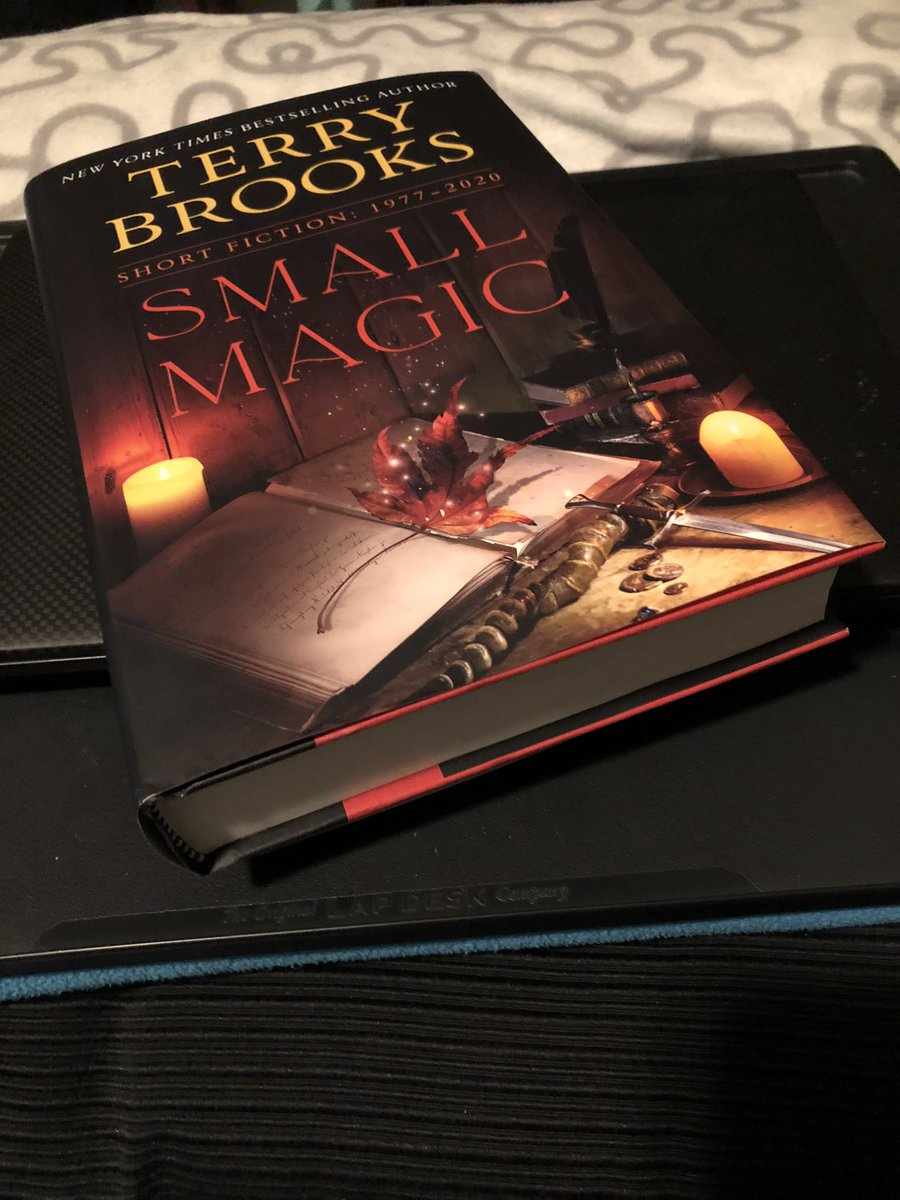 Happy #WorldBookDay today! I'm reading Small Magic by @TerryBrooks - I grew up reading #Shannara and #Landover (and #fantasy turned into one of my PhD areas!) and these stories are like coming home and also new discoveries, all at once. 📖💕 #books #BookTwitter