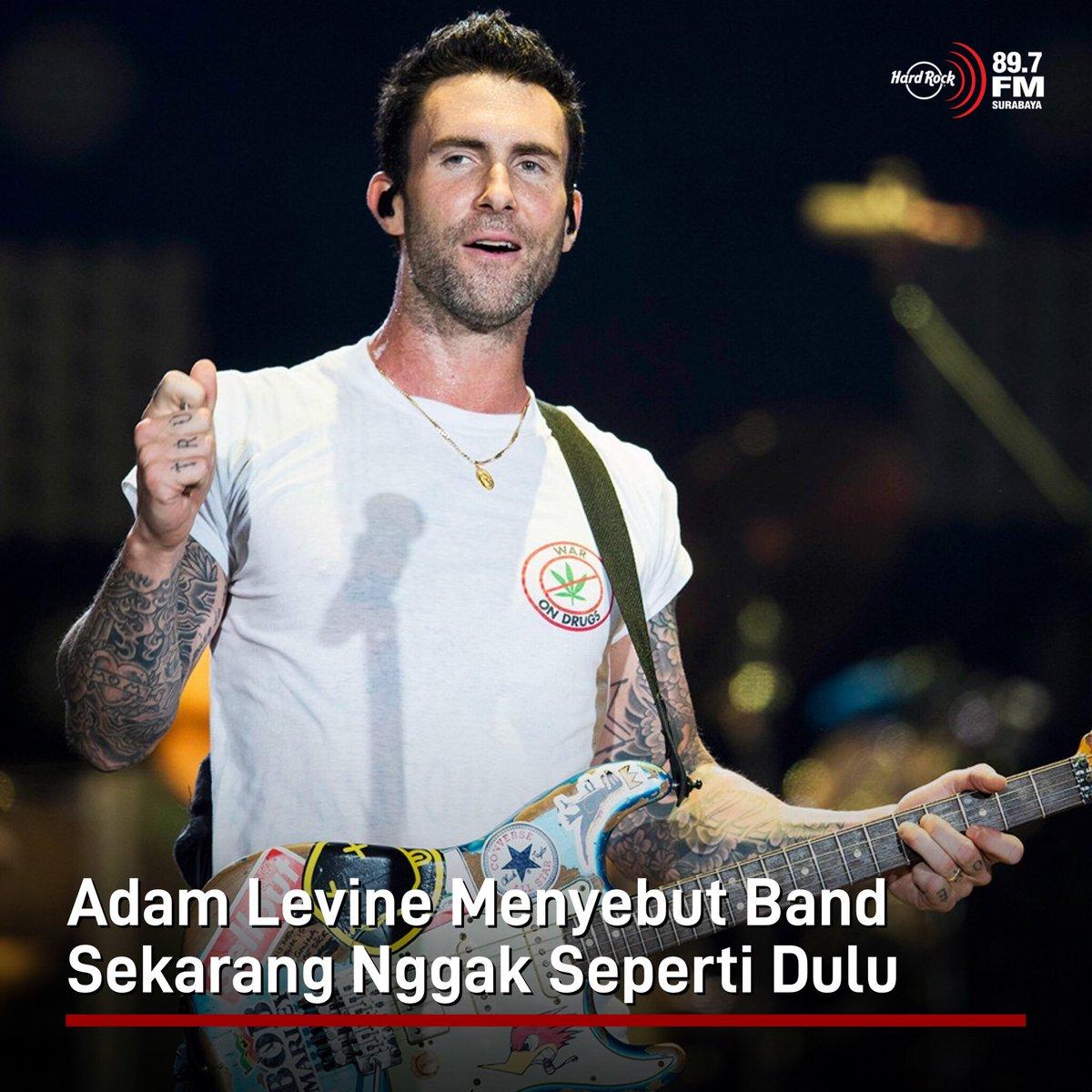 #HRFMNews Adam Levine bilang kalo sekarang udah ga ada lagi band-band seperti dulu.  Dalam sebuah wawancara dg Zane Lowe di Apple Music, dia mengaku kangen sama musik awal tahun 2000an yg dia sebut msh banyak band. Band jaman sekarang ga terlalu jd pusat perhatian di ranah pop.