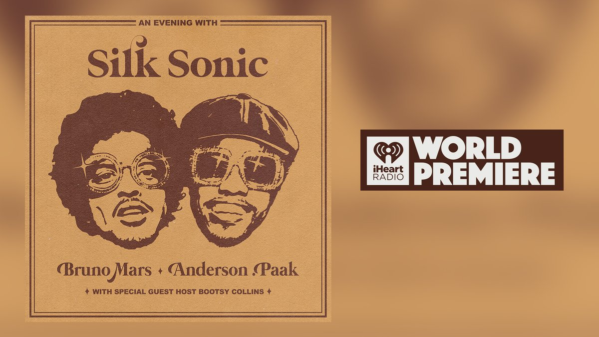 Best day of my life. @BrunoMars & @AndersonPaak are Silk Sonic. Their new single #LeaveTheDoorOpen is officially here and you can listen to the World Premiere right now on iHeartRadio!  🔥: