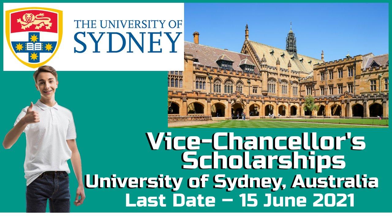 Vice-Chancellor's International Scholarships by University of Sydney, Australia